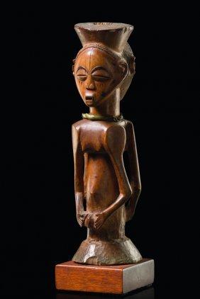 "Janiform Figure ""kabeja"" - D. R. Congo, Luba"