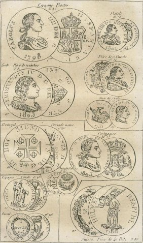 Coins. Portugal/spain/italy/switzerland. 1859.