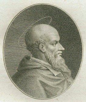 Quirin Mark. Portrait Of Saint Xistus. 1809.