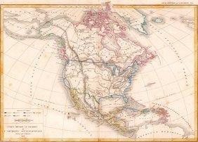 Map Of North America. 1854.