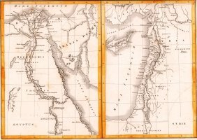 Map Of Egypt And Syria. 1854.