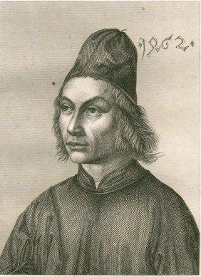 Portrait Of Hans Hemling (memling). Netherlands. 1844.