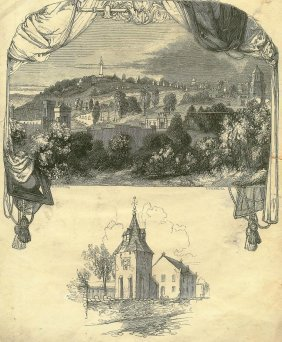 Necropolis. Rutherglen Old Church. Scotland. 1850.