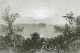 Saratoga Lake. Saratoga County, New York. Usa. 1838.