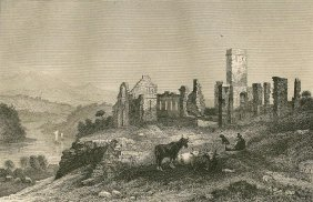 Milbert. Ruins Of Fort Ticonderoga. 1837.