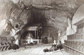 Shrine Of Santa Rosalia On Monte Pelegrino. Italy. 1841