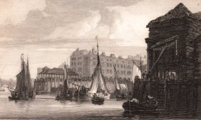 Billingsgate, The London Fish Market. England. 1814.