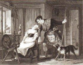 William Allan. The Stolen Kiss. Scotland. 1828.