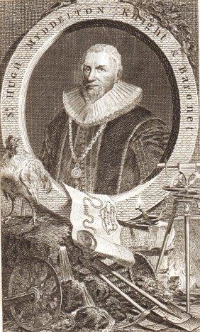 Portrait Of Hugh Myddelton. England. 1751.