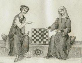 Otho Of Brandenburg Playing Chess. Germany. 1841.