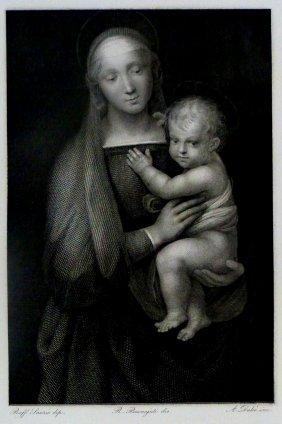 Raffaello Sanzio Da Urbino (raphael). Madona.