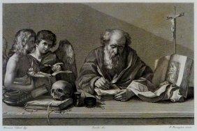 Dionisio Calvart. Saint Jerome. Netherland/italy. 1842.