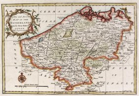 An Accurate Map Of The Netherlands. Europa. 1773.
