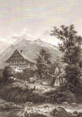 Landscape Of Goldau. Switzerland. ~ 1850-1867.