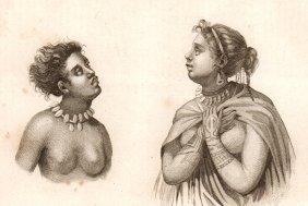 Women Of Nuku Hiva. Polynesia. 1837.