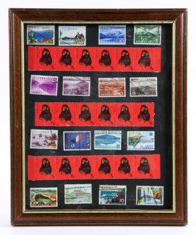 Framed Chinese Stamps