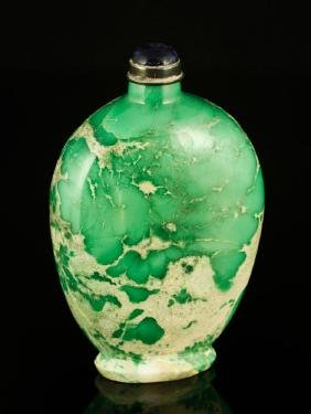 19th C. Chinese Variscite Snuff Bottle