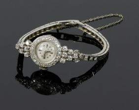 Ladies' Hamilton Platinum And Diamond Wristwatch