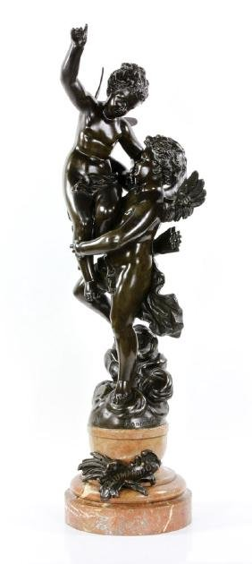 Rancoulet, Triumphator, Bronze on Marble Base