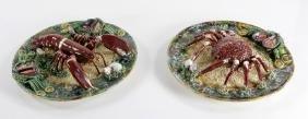Majolica Palissy Ware Figural Plates