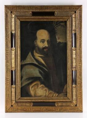 Portrait Of A Saint, Oil On Canvas