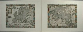 SET OF OVERTON MAPS, HC ENGRAVING, C.1675