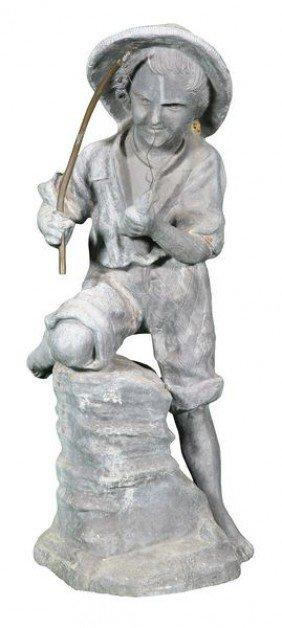 English Lead Statue Of Boy