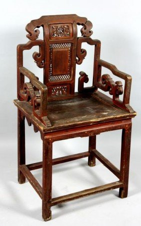 19th/Early 20th C. Chinese Wood Chair