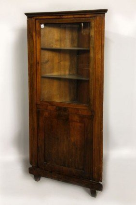 19th C. Corner Cabinet