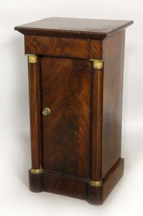 19th C. Boston Mahogany Cabinet