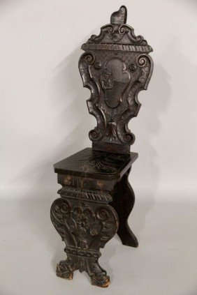 19th C. Italian Carved Chair