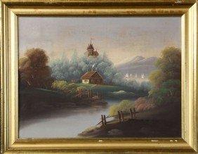 19th C. Landscape, O/C