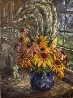 Willette, Still Life With Flowers, O/C