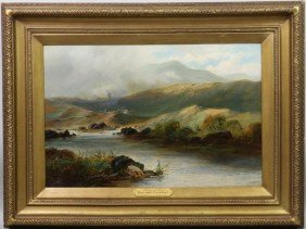 "Champney, ""Landscape With River"", O/C"