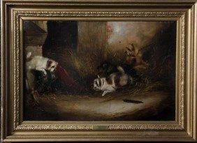 Armfield, Portrait Of Four Dogs, O/C