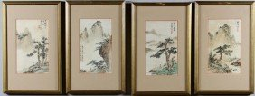 Four 20th C. Chinese Paintings