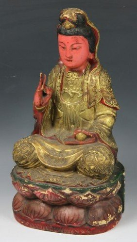 Chinese 19th C. Guan Yin Figure
