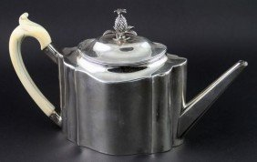 Silver Teapot With Ivory