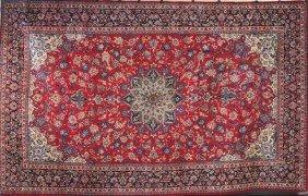 C. 1950's Semi Antique Persian Isfahan Rug