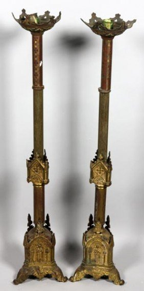 Pair Of Altar Candlesticks