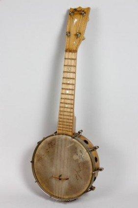 Signed 1920's Clarophone Banjo