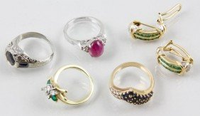 Assortment Of 18K Gold Jewelry