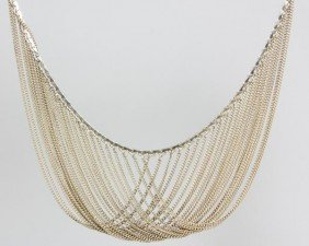 20th C. 14K White Gold Necklace