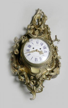 Louis XVI Gilt Wall Clock