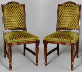 Pair Of Regency Style Dining Chairs
