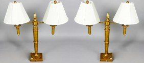 Pair Of Double-Armed Lamps