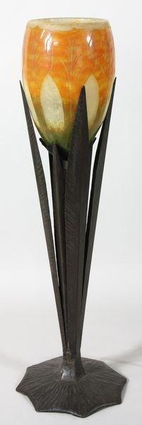 1920's Le Verre Francais Tulip Lamp