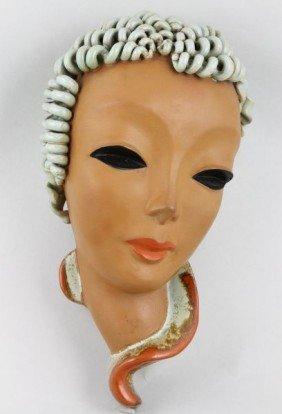 Art Deco, Goldscheider Austria, Mask