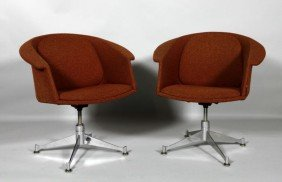 Pair Of Canadian Swivel Armchairs