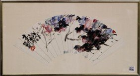 Chinese 20th C. Fan Painting